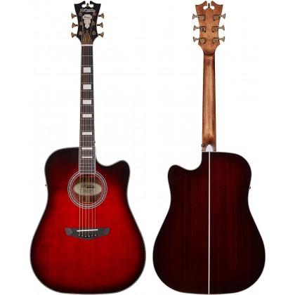 D'Angelico Premier Bowery Trans Black Cherry Burst Ozvučena akustična gitara