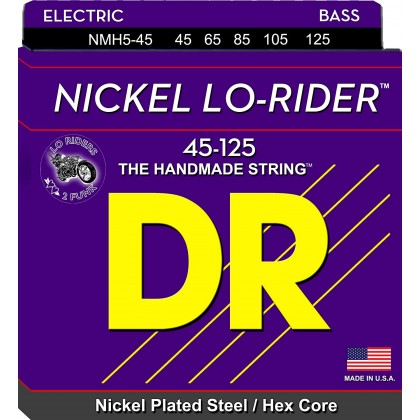 DR Strings Nickel Lo-Rider Medium NMH5-45 petožičani set