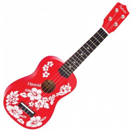FALCON - UKULELE FL15RD - RED FLOWER