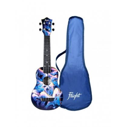 FLIGHT TUS40 GRAFITI Travel sopran ukulele