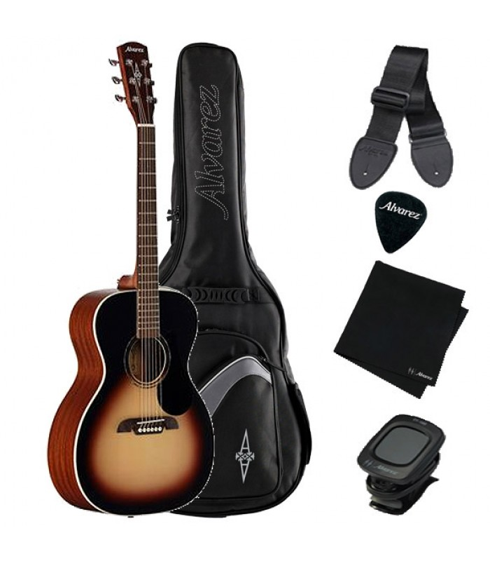 Alvarez RF26SSBAGP Orchestra Model Acoustic Guitar Pack Sunburst
