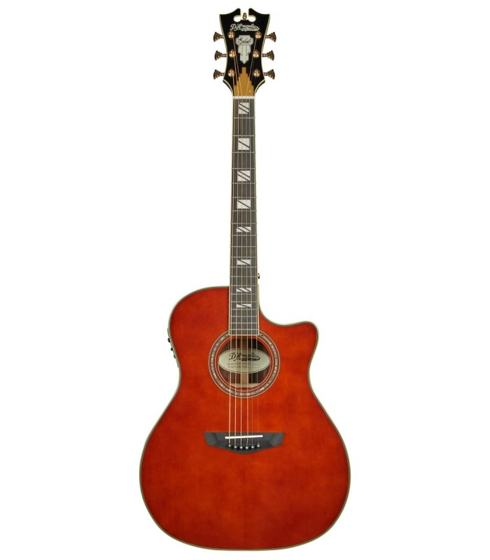 D'Angelico Excel Gramercy Auburn Ozvučena akusitčna gitara