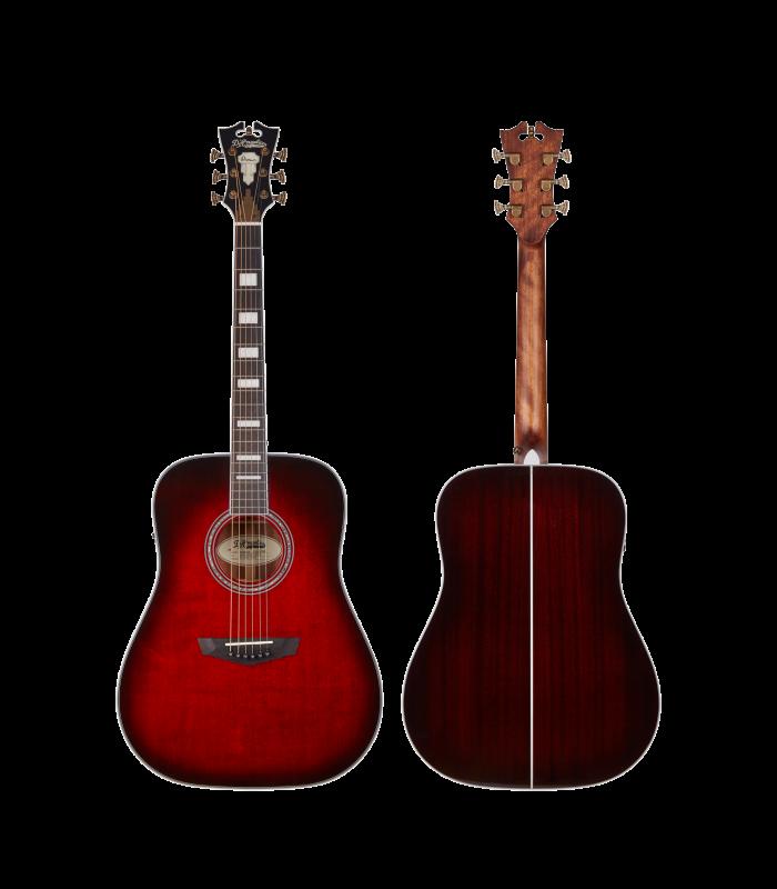 D'Angelico PREMIER Lexington Trans Black Cherry Burst Ozvučena Akustična Gitara