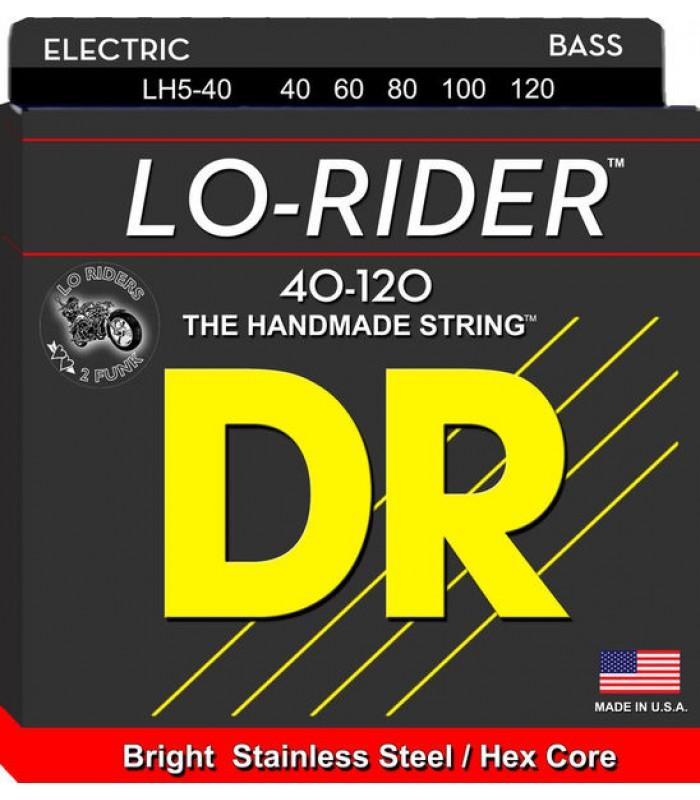DR LH5-40 žice za petožičanu bas gitaru