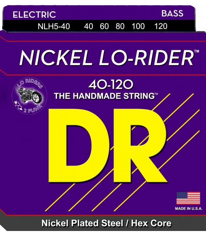 DR NLH5-40 žice za petožičanu bas gitaru