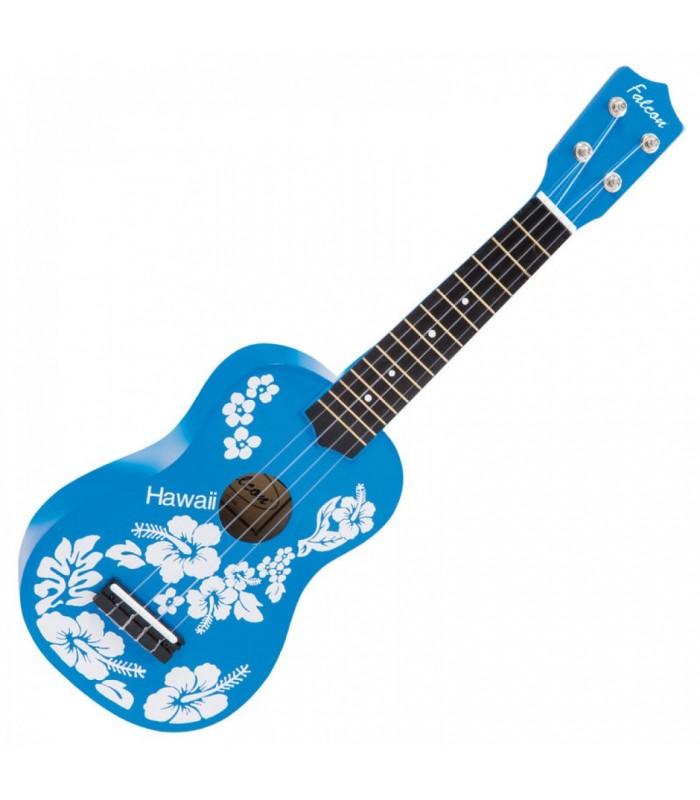 FALCON UKULELE FL15BL - BLUE FLOWER