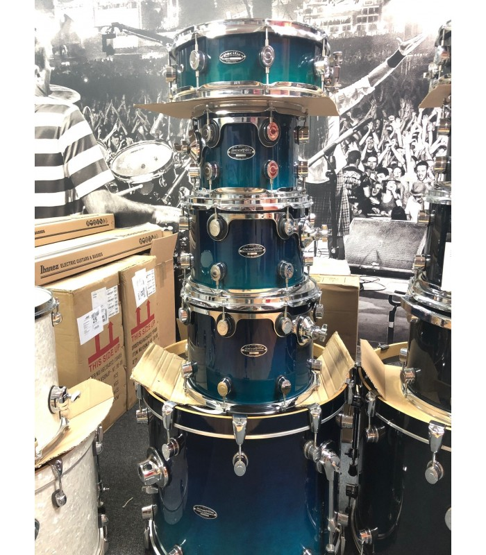 PDP PACIFIC FX series Blue Turquoise Fade Komplet bubnjeva