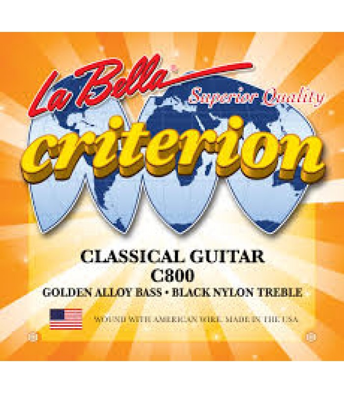 La Bella C800 Criterion Black Nylon
