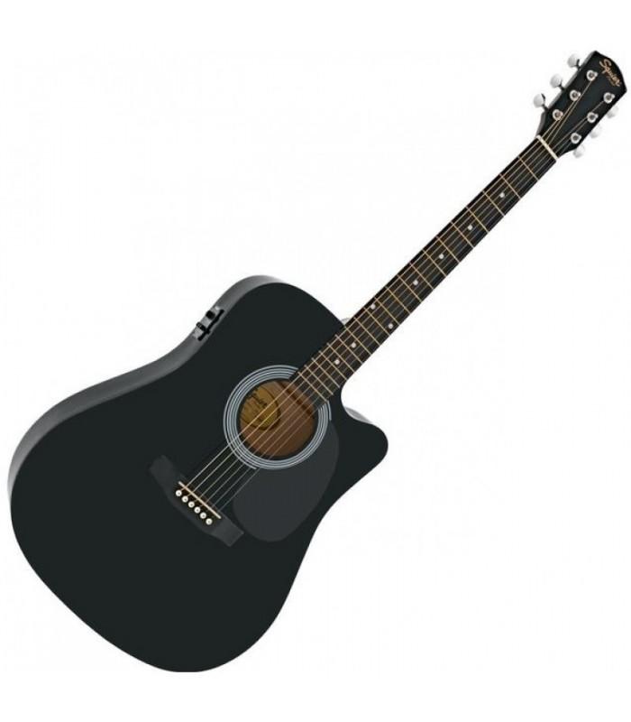 Squier SA-105CE Black ozvučena akustična gitara