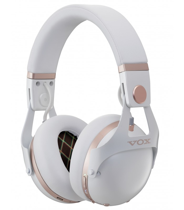VOX VH-Q1-WH Noise Cancel Silent Studio Headphones, White