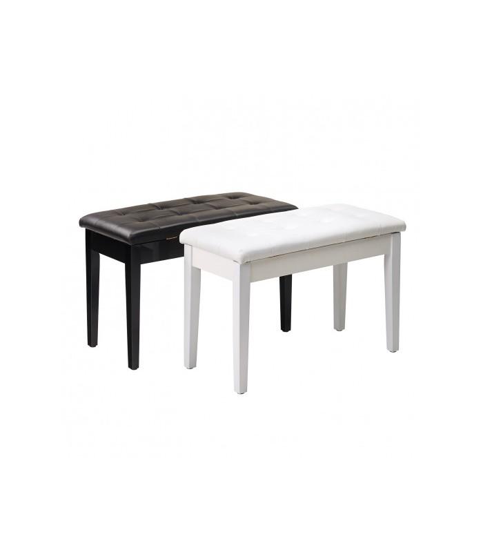 William Wagner PIANO BENCH DOUBLE TYPE WHITE stolica za klavir