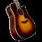 D'Angelico Premier Bowery Vintage Sunburst Ozvučena akusitčna gitara