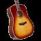 D'Angelico PREMIER Lexington Iced tea Burst Ozvučena akustična gitara